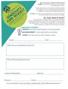 Generosity Fund Request Form